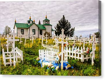 Russian Orthodox Church In Ninilchik Alaska Canvas Print by Natasha Bishop