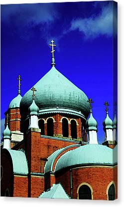 Russian Orthodox Church Canvas Print by Karol Livote