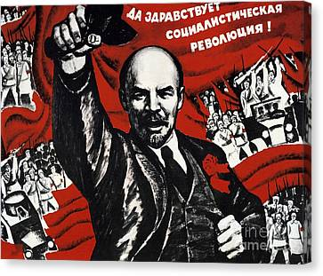 Communism Canvas Print - Russian Revolution October 1917 Vladimir Ilyich Lenin Ulyanov  1870 1924 Russian Revolutionary by Anonymous