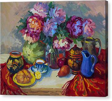 Russian Still Life Canvas Print by Diane McClary