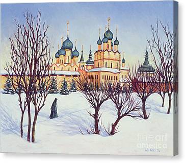Bare Trees Canvas Print - Russian Winter by Tilly Willis