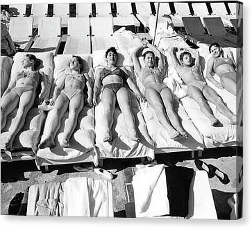 Russia's Women's Olympic Gymnastics Team Canvas Print by Duane Michals