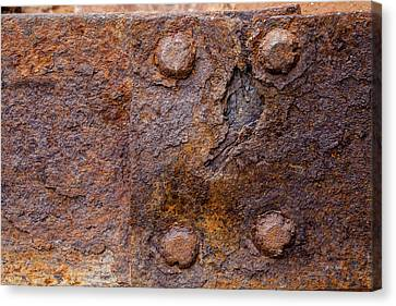 Bolts Canvas Print - Rust 1 by Fran Riley
