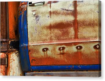 Rust And Blue Canvas Print by Toni Hopper
