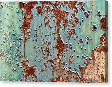 Rust And Paint Canvas Print by Olivier Le Queinec