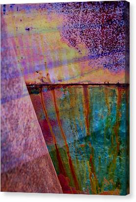 Rust And Paint Canvas Print by Shirley Sirois