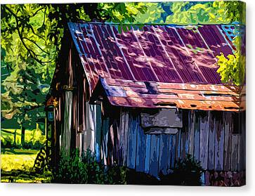 Rust And Rays Canvas Print