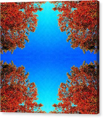 Canvas Print featuring the photograph Rust And Sky 1 - Abstract Art Photo by Marianne Dow