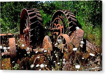 Rust And Wheels Canvas Print