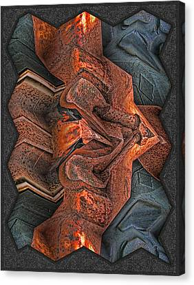 Rust Flow Canvas Print by Wendy J St Christopher