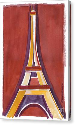 Rust Yellow Eiffel Tower Canvas Print