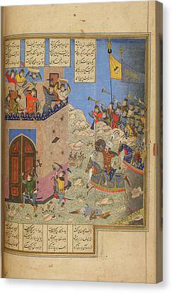 Rustam And His Troops Canvas Print by British Library
