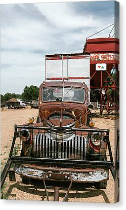 Rusted Abandoned Antique Truck Canvas Print by Julien Mcroberts