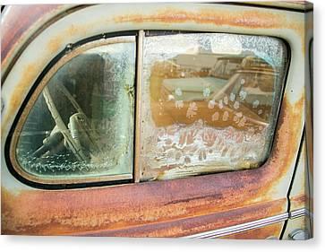Rusted Antique Automobile, Tucumcari Canvas Print by Julien Mcroberts
