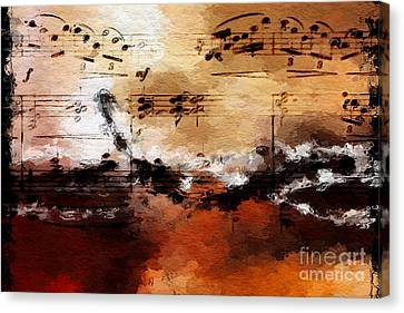 Canvas Print featuring the digital art Rusted Desert Harmony by Lon Chaffin
