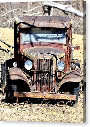 Canvas Print featuring the photograph Rusted Love by Cathy Shiflett