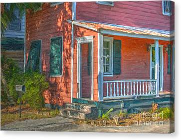 Rusted Tin Roof Canvas Print by Dale Powell