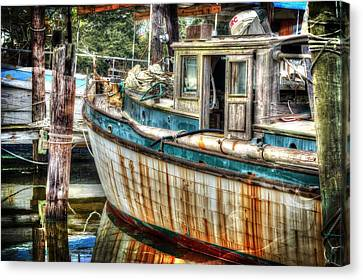 Rusted Wood Canvas Print by Michael Thomas