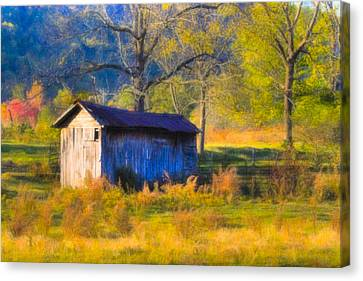 Rustic Autumn Landscape In North Georgia Canvas Print by Mark E Tisdale