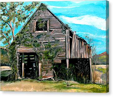 Canvas Print featuring the painting Rustic Barn - Mooresburg - Tennessee by Jan Dappen