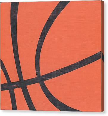 Rustic Basketball Canvas Print by Alli Rogosich