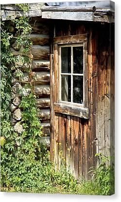 Rustic Cabin Window Canvas Print by Athena Mckinzie