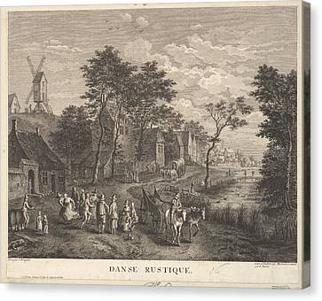 Rustic Dance Danse Rustique Canvas Print by Robert Daudet