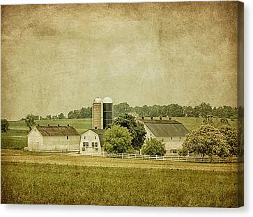 Amish Farms Canvas Print - Rustic Farm - Barn by Kim Hojnacki