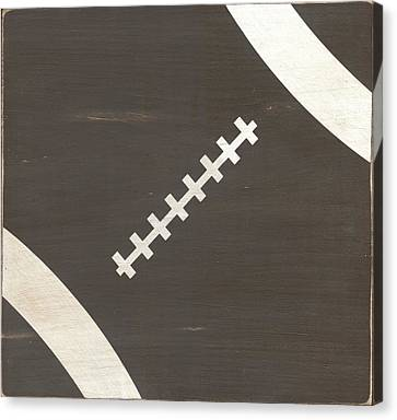 Rustic Football Canvas Print by Alli Rogosich