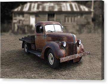 Canvas Print featuring the photograph Rustic Ford Truck by Keith Hawley
