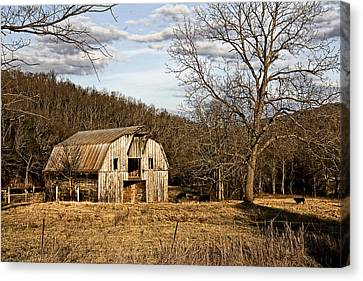 Canvas Print featuring the photograph Rustic Hay Barn by Robert Camp