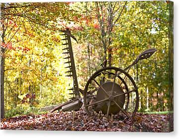 Canvas Print featuring the photograph Rustic Hay Cutter by Robert Camp