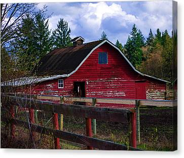 Canvas Print featuring the photograph Rustic Old Horse Barn by Jordan Blackstone