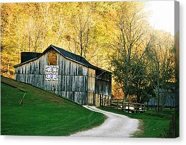 Rustic Quilt Barn Canvas Print by Chastity Hoff