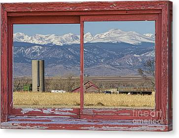 Rustic Red Barn Picture Window Colorado Country View Canvas Print by James BO  Insogna
