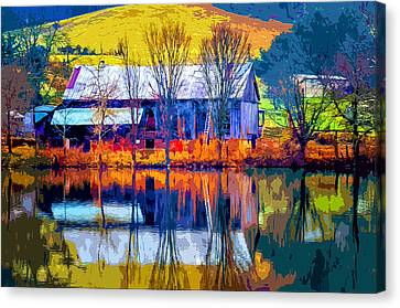 Rustic Reflections 2 Canvas Print