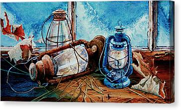 Rustic Relics Canvas Print by Hanne Lore Koehler