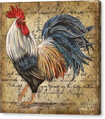 Rustic Rooster-jp2119 Canvas Print