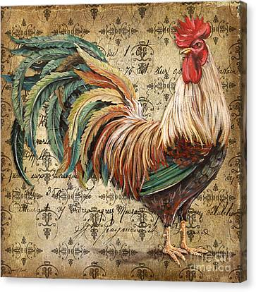 Rustic Rooster-jp2120 Canvas Print