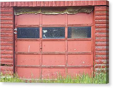 Rustic Rural Red Garage Door Canvas Print by James BO  Insogna