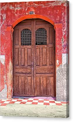 Rustic Spanish Colonial Door - Granada Canvas Print