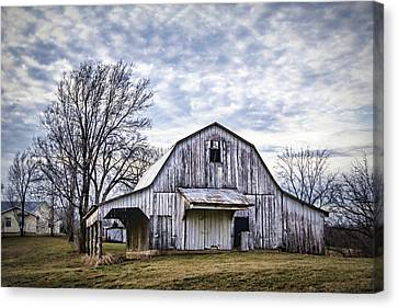 Rustic White Barn Canvas Print
