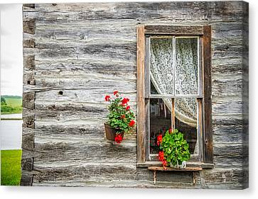 Rustic Window Canvas Print