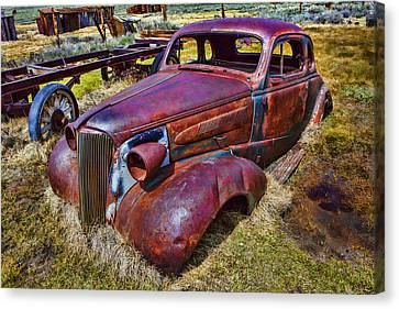Rusting Away Auto Canvas Print