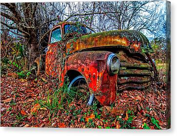 Rusty 1950 Chevrolet Canvas Print by Andy Crawford
