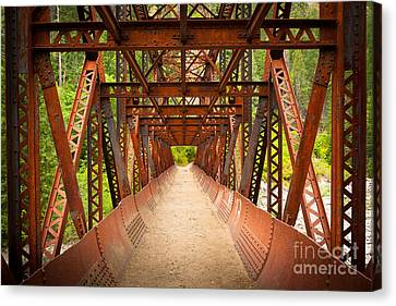 Rusty Bridge Canvas Print by Inge Johnsson