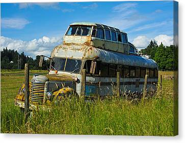Rusty Bus Canvas Print by Crystal Hoeveler