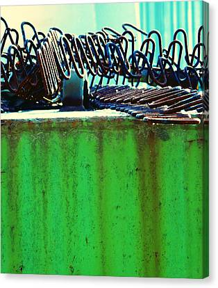 Rusty Coils 2 Canvas Print by Laurie Tsemak