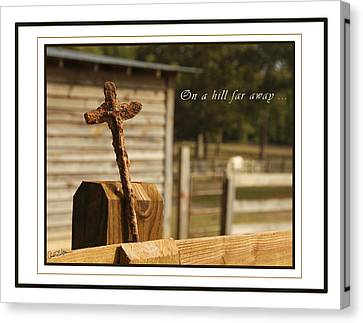 Rusty Cross Canvas Print