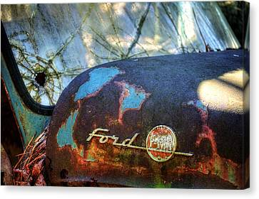 Pine Needles Canvas Print - Rusty Ford F100 by Greg Mimbs